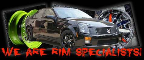 We powder car rims in any color!