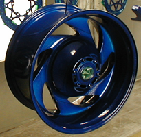 Northeast Ohio Summit County powder coating for your car, truck or motor cycle rims!